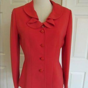 Tahiri Coral Lined Long Sleeve Blazer Jacket